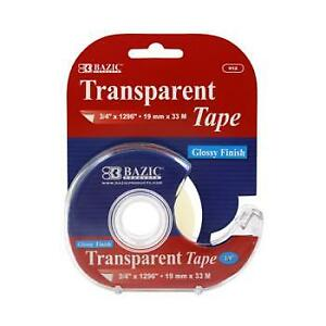Bazic 3 4 X 1296 Transparent Tape With Dispenser Case Pack 24