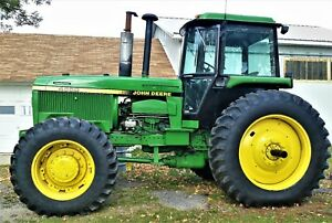 1984 John Deere 4650 Power Shift Cab Tractor 4x4 4wd Ie 4450 4850 6030 4250 4050