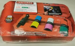 New Craftsman 4pc Flip Impact Socket Set Wheel Lug Nut Lugnut Remover With Case