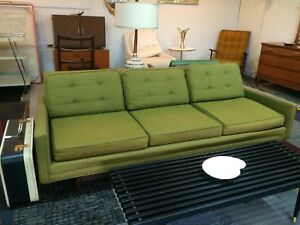 Vintage Mid Century Modern Low Profile Sofa Couch