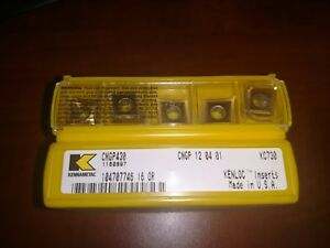 10 New Kennametal Carbide Inserts Cngp430 Kc730