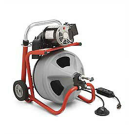 Ridgid 174 K 400 Drum Machine W standard Equipment 115v 75 l X 3 8 w Cable