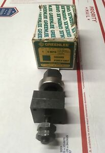 Nos Greenlee 1 Square Radio Chassis Knockout Punch 731 50 60016 6251