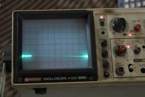 Hitachi V 222 20mhz Dual Channel Oscilloscope Lights Up Untested
