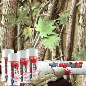 Hydro Dipping Transfer Film Hydrographic Designer Dip Kit Green Leaf Camo Hc2522