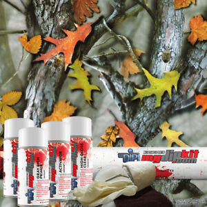 Hydro Dipping Transfer Film Hydrographic Designer Dip Kit Leaf Woods Mix Hc462