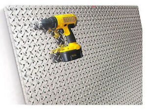 Diamond Plated Commercial Grade Metal Pegboard 2 x4 Aluminum Panel Garage Tools
