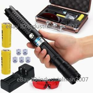 Powerful Blue Laser Pointer Laser Pen Laser Torch Zoomable Burning Laser 2x26650