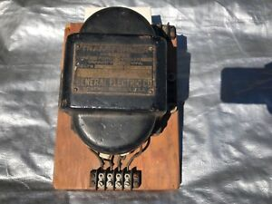 Vintage General Electric Co Transformer Rare Schenectady N y U s a Brass Plate