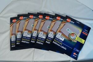 Lot Of 7 Avery Address Labels 4 New 58160 3 Open 58160