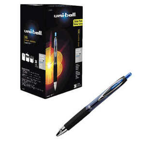 Uni ball Signo Gel 207 Rollerball Pen Medium Point Blue 36 count