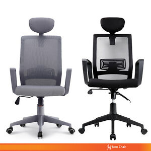 Executive Home Office High Back Mesh Chair With Headrest grindelwald