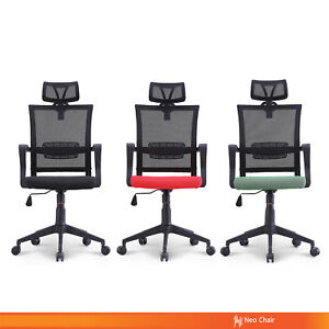 Managerial Home Office Conference Room High Back Mesh Chair With Hanger sion