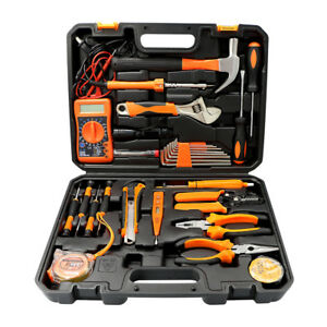 34pcs Hand Tools Set Multimeter Household mechanics Electric Screwdriver Wrench