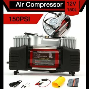 Portable 12v Air Compressor Pump Electric Bicycle Motorcycle Tire Inflator New