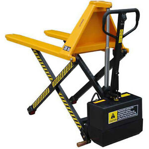 Wesco Telescoping Electric High Lift Pallet Truck 3000 Lb 27 Forks Lot Of 1