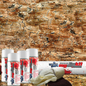 Hydro Dipping Hydrographics Transfer Film Designer Dip Kit Rustic Wood Dd935