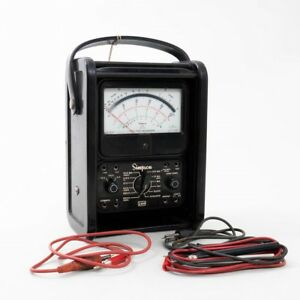 Simpson Electric Analog Multimeter 1000 Max Ac Volts In Portable Carrying Case