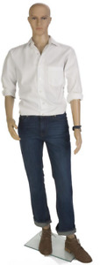 Realistic Male Mannequin W Tempered Glass Base Detachable Arms Legs And Torso