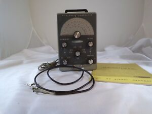 Vintage Heathkit Ig 102 Rf Signal Generator Test Cable Manual Wwii Radio Man