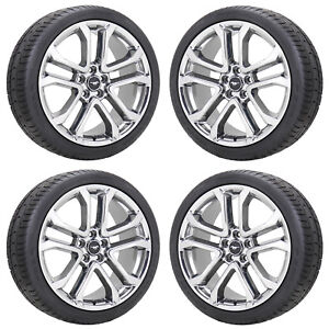 20 Ford Mustang Gt Pvd Chrome Wheels Rims Tires Factory Oem Set 2018 2019 10167