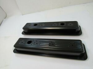 Small Block Chevy Center Bolt Steel Short Valve Covers 1987 00 5 0 5 7l V8