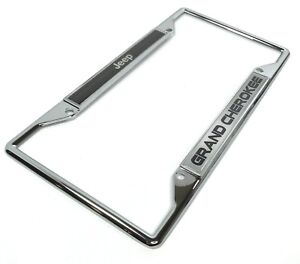 Chrome License Plate Frame For Jeep Grand Cherokee W Emblem