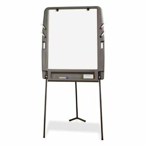 Portable Flipchart Easel Dry Erase Surface Charcoal