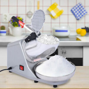 Summer 143lbs Electric Ice Shaver Machine Snow Cone Maker Crusher Shaving Silver