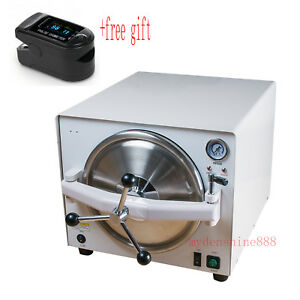18l Dental Medical Heating over Protection Sterilizer Machine free Oximeter New