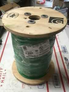Copper Wire Spool 500 Ft 8 Awg Thhn Thwn Gauge Stranded Electrical Green 6240