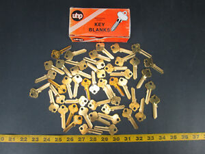 Lot Of 47 Brass Curtis Key Blanks Model No In18 Ultra Hardware New Old Skukgs