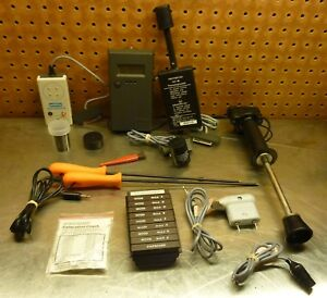 Digital Protimeter Moisture Measurement Meter Big Bundle Slide Hammer salts Look