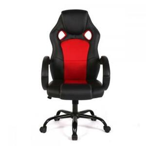 New High Back Race Car Style Bucket Seat Office Desk And Gaming Chair Red black