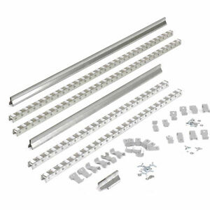 Gravity Carton Flow Roller Track Kit Double Depth 72 Lot Of 1