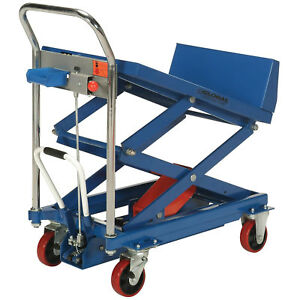 Mobile Lift Tilt Scissor Lift Table 36 X 24 Platform 600 Lb Capacity Lot