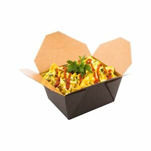 Disposable Take Out Container To Go Box Eco friendly Paper Rectangle 3