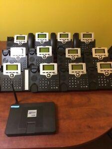 Xblue X50 With 12 Phones Server Cords Handsets And More