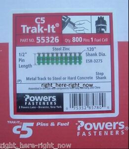 New Powers Trak it C5 55326 1 2 Metal Track To Steel Pins With Fuel Cell