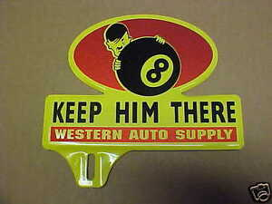 1940 S World War 2 Time License Plate Topper Hitler Western Auto Wwii