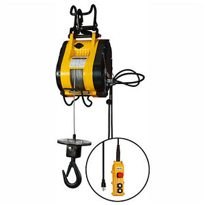 Oz Lifting Electric Wire Rope Hoist 500 Lbs Cap Lot Of 1