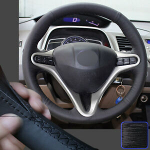 Protective Steering Wheel Cover Sewing Wrap For 06 11 08 Honda Civic 13 5 14in