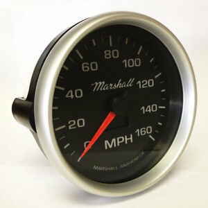 Marshall 5 In Dash Electronic Speedometer 0 160 Mph Silver Bezel 2054