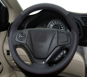 Hand Stitch Sew Wrap Leather Steering Wheel Cover For Honda Crv Cr V 12 16 14 15