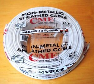 250 ft Roll 14 2 Awg Nm b Indoor Electrical Copper Wire Ground Romex Cme Wire