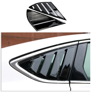 Shiny Rear Quarter Panel Window Side Louvers Vent Fit For Ford Fusion Mondeo 4d
