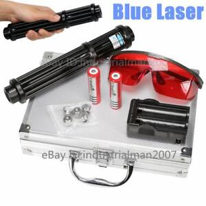 New High Power Blue Laser Pointer 5000lm Laser Pen Zoomable Laser Torch 2x18650