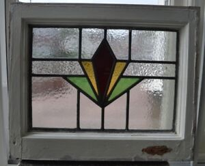 1 Art Deco Leaded Light Stained Glass Window Panel R673 Worldwide Delivery