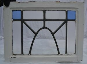 1 Art Deco Leaded Light Stained Glass Window Panel R739b Worldwide Delivery