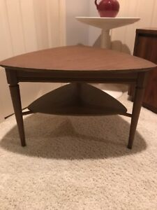 Mid Century Modern Guitar Pick End Table Laminate Top
